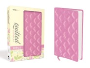 NIV Thinline Quilted Collection Bible, Italian Duo-Tone, Strawberry Cream  -     By: Zondervan