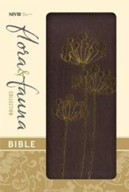 NIV Flora and Fauna Collection Bible, Italian Duo-Tone, Chocolate/Copper Flowers  -              By: Zondervan