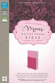 NIV Mom's Devotional Bible, Italian Duo-Tone, Pink/Hot Pink  -              By: Elisa Morgan