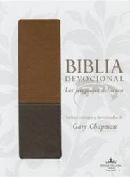 Biblia devocional: Los lenguajes del amor RVR60 - Duotono cafe/RVR 1960 Love Languages Devotional Bible--soft leather-look, brown