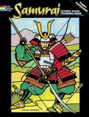 Samurai Stained Glass Coloring Book  -     