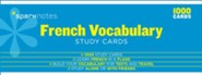 French Vocabulary SparkNotes Study Cards