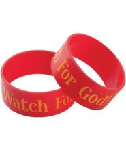 Watch For God Wristbands, Package of 10