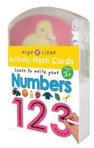 Wipe Clean Flash Cards 123 [With Stickers and 3 Colored Pens]