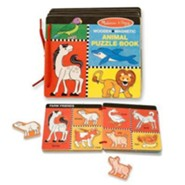 Wooden Magnetic Animal Puzzle Book  -