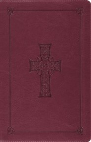 ESV Large Print Thinline Reference Bible (TruTone, Burgundy, Celtic Cross)