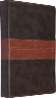 ESV Single Column Legacy Bible, Forest/tan soft leather-look with trail design  -