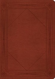 ESV Study Bible (TruTone, Tan, Window Design), Leather, imitation