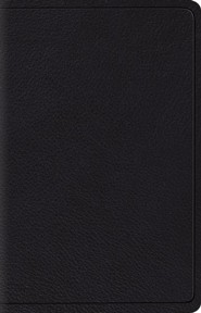 ESV Wide-Margin Reference Bible--top grain leather, black - Slightly Imperfect