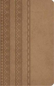 KJV Personal Size Reference Bible--soft leather-look, brown sugar (indexed)  -