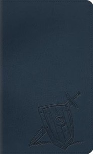 ESV Thinline Bible, TruTone, Slate, Shield & Sword - Imperfectly Imprinted Bibles