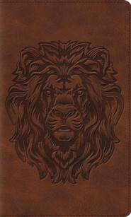 ESV Thinline Bible, TruTone, Royal Lion, Brown - Slightly Imperfect