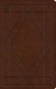ESV UltraThin Bible (TruTone, Chestnut, Wood Panel Design), Imitation Leather, Brown