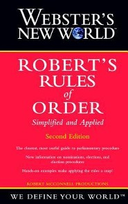 Webster's New World Robert's Rules of Order Simplified and Applied, Edition 0002