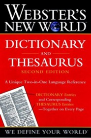 Webster's New World Dictionary and Thesaurus, Edition 0002