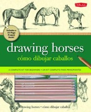 Drawing Horses: Project Book for Beginners [With Blending Stump, Acetate Grid, Sandpaper Block and 7 Pencils and Paint Brush and Paint and Era