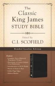 Classic King James Study Bible--bonded leather, black
