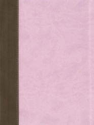 KJV Study Bible, Imitation Leather, Pink/Brown