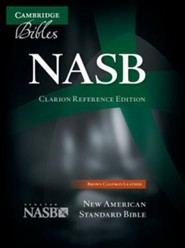 NASB Clarion Reference, Calfskin, brown  -