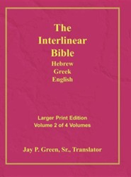 Interlinear Hebrew-Greek-English Bible  Large Print Volume 2, Cloth