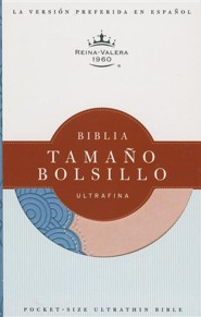 Biblia Tamano Bolsillo Ultrafina-Rvr 1960, Imitation Leather, Prussian Blue