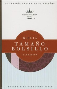 Biblia Tamano Bolsillo Ultrafina-Rvr 1960, Imitation Leather, Red/Brown