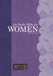 The Study Bible for Women, NKJV Edition, Cocoa Genuine Leather, Thumb-Indexed