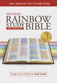 KJV Rainbow Study Bible, Hardcover, Thumb-Indexed
