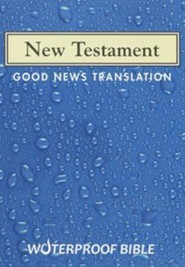 Good News Waterproof New Testament, Blue