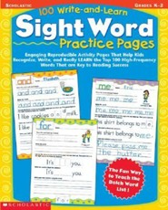 100 Write-And-Learn Sight Word Practice Pages  -