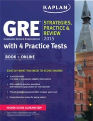 GRE 2015 Strategies, Practice, and Review with 4 Practice Tests: Book + Online