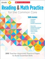 Reading and Math Practice for the Common Core (Grade 4): 200 Teacher-Approved Practice Pages to Build Essential Skills