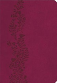 KJV Ultraslim Bible, Leathersoft, cranberry  -