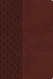 NKJV Center Column Reference Bible, Imitation leather, Mediterranean brown