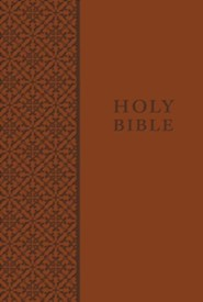 KJV Personal-Size Study Bible--soft leather-look, auburn  -