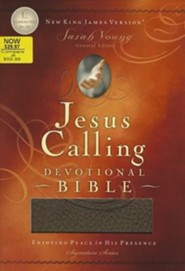 NKJV Jesus Calling Devotional Bible, Soft leather-look, chocolate  -