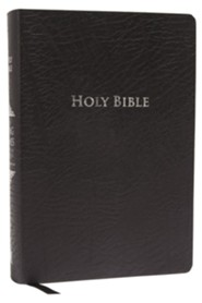 King James Study Bible, Second Edition, Bonded Leather, black--indexed  -