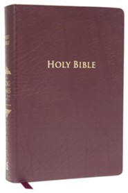King James Study Bible, Second Edition, Bonded Leather, Burgundy--indexed  -