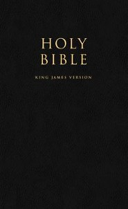 KJV The Holy Bible, Paper, Black