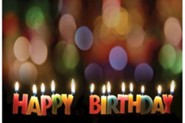 Happy Birthday Candles Postcard (Package of 25)  -