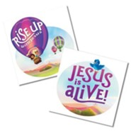 Rise Up With Jesus Skin Decals, Pack of 10 (5 of each design)