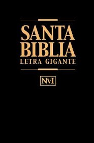 Biblia Letra Gigante-Nu = Giant Print Bible-Nu, Imitation Leather, Black, Thumb Index