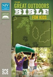 NIV, The Great Outdoors Bible for Kids, Italian Duo-Tone, Leaf Green  -