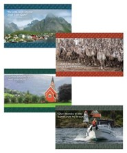 Expedition Norway VBS 2016: Bible Verse Poster Pack, set of 4