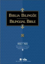 Biblia Bilingue-PR-NU/NIV, Imitation Leather, Black, Thumb Index