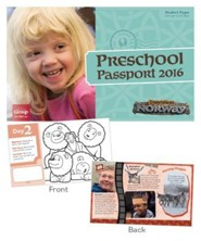 Expedition Norway VBS 2016: Preschool Passport Pages, pack of 40 sheets (enough for 10 kids)