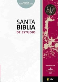 Biblia de Estudio RVR 1960 Serie 50, Enc. Dura Negra  (RVR 1960 50 Series Study Bible, Hardcover Black) - Slightly Imperfect  -     By: Zondervan