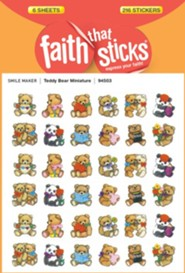Stickers: Teddy Bear Miniature