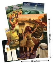 Cave Quest VBS 2016: Bible Story Posters, set of 5