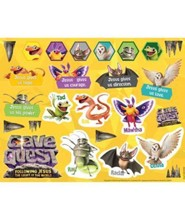 Cave Quest VBS 2016: Sticker Sheets, pack of 10